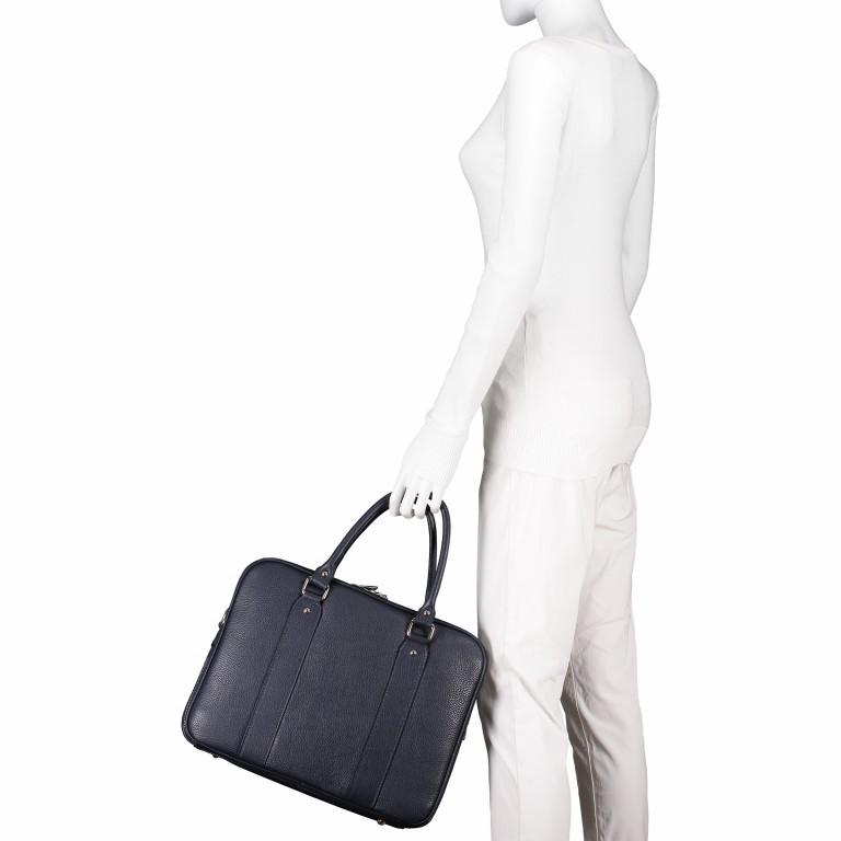 Aktentasche für Damen Schwarz, Farbe: schwarz, Marke: Hausfelder, EAN: 4065646001626, Abmessungen in cm: 36.0x28.0x13.0, Bild 6 von 11
