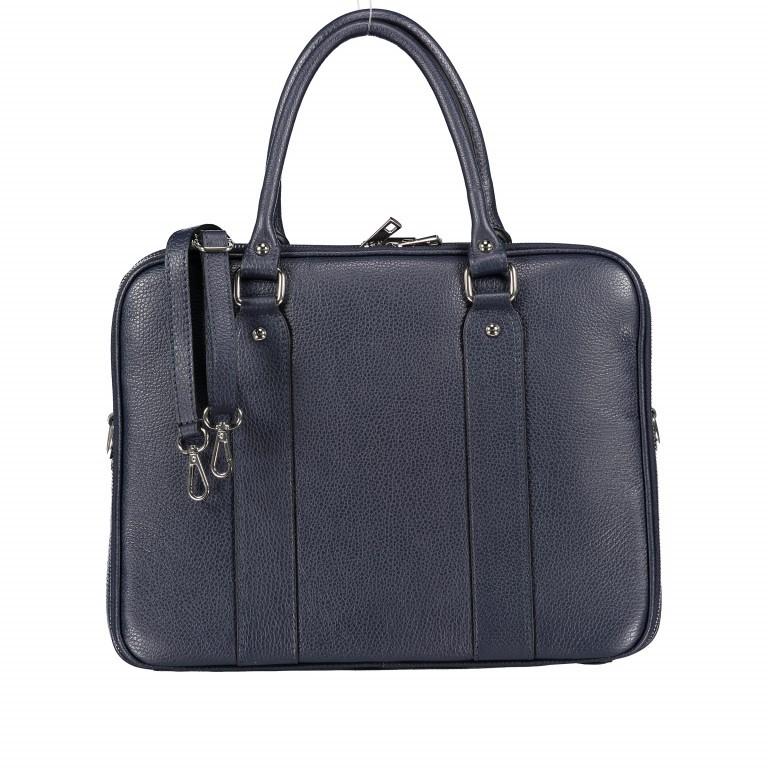 Aktentasche für Damen Dunkelblau, Farbe: blau/petrol, Marke: Hausfelder, EAN: 4065646001596, Abmessungen in cm: 36.0x28.0x13.0, Bild 1 von 11