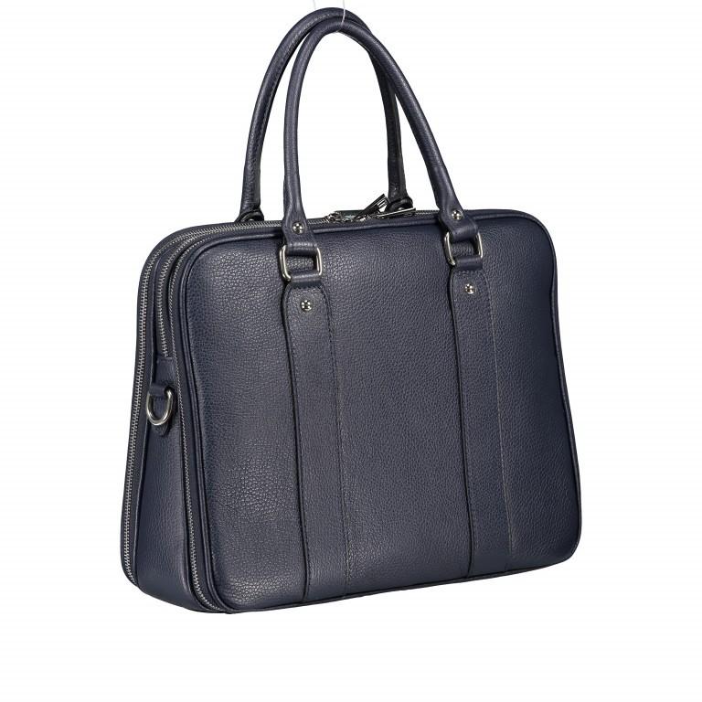 Aktentasche für Damen Dunkelblau, Farbe: blau/petrol, Marke: Hausfelder, EAN: 4065646001596, Abmessungen in cm: 36.0x28.0x13.0, Bild 2 von 11