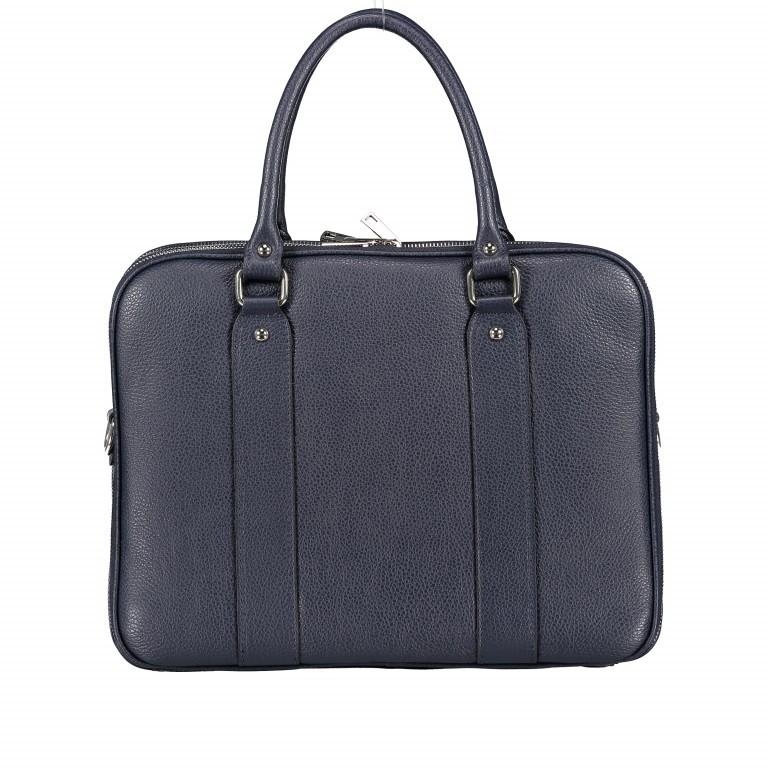 Aktentasche für Damen Dunkelblau, Farbe: blau/petrol, Marke: Hausfelder, EAN: 4065646001596, Abmessungen in cm: 36.0x28.0x13.0, Bild 3 von 11
