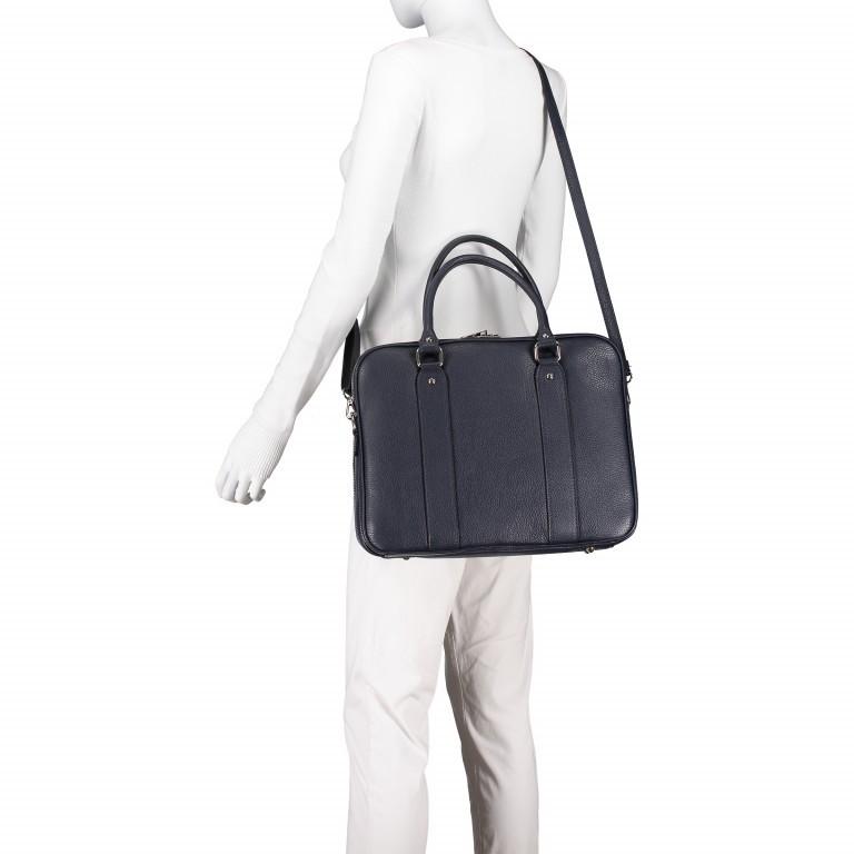 Aktentasche für Damen Dunkelblau, Farbe: blau/petrol, Marke: Hausfelder, EAN: 4065646001596, Abmessungen in cm: 36.0x28.0x13.0, Bild 5 von 11