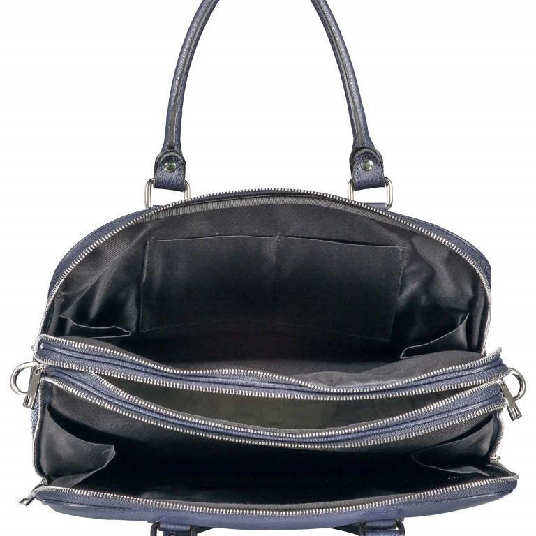 Aktentasche für Damen Dunkelblau, Farbe: blau/petrol, Marke: Hausfelder, EAN: 4065646001596, Abmessungen in cm: 36.0x28.0x13.0, Bild 7 von 11