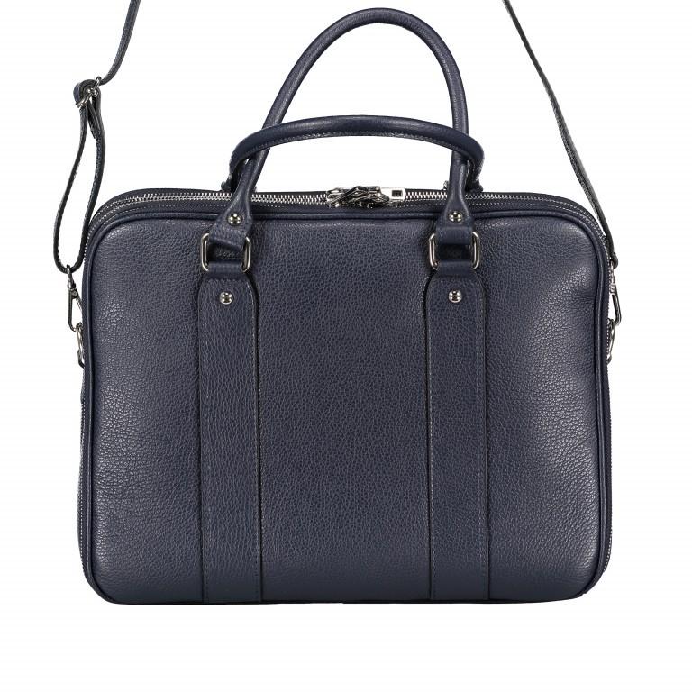 Aktentasche für Damen Dunkelblau, Farbe: blau/petrol, Marke: Hausfelder, EAN: 4065646001596, Abmessungen in cm: 36.0x28.0x13.0, Bild 9 von 11