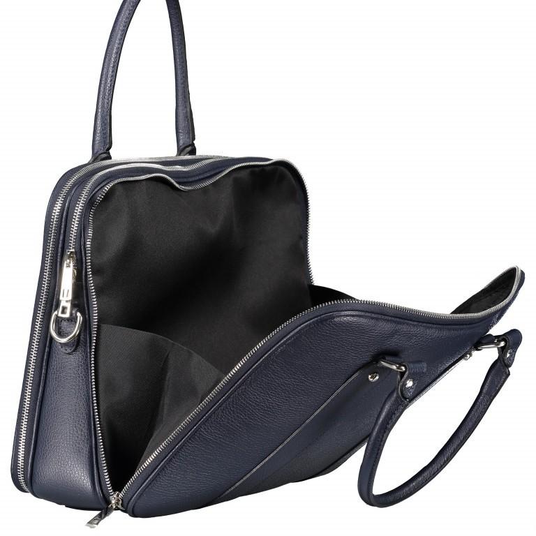 Aktentasche für Damen Dunkelblau, Farbe: blau/petrol, Marke: Hausfelder, EAN: 4065646001596, Abmessungen in cm: 36.0x28.0x13.0, Bild 10 von 11