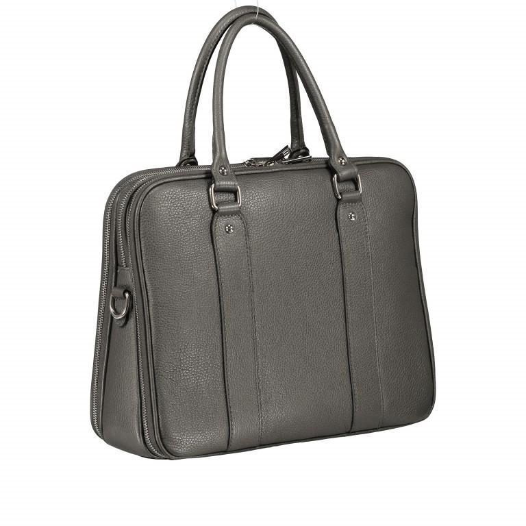 Aktentasche für Damen Dunkelgrau, Farbe: grau, Marke: Hausfelder, EAN: 4065646001602, Abmessungen in cm: 36.0x28.0x13.0, Bild 2 von 11