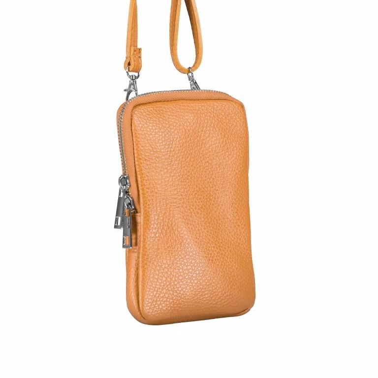 Handytasche Dollaro mit Schulterriemen Cognac, Farbe: cognac, Marke: Hausfelder, EAN: 4065646002395, Abmessungen in cm: 11.0x17.5x2.0, Bild 2 von 6