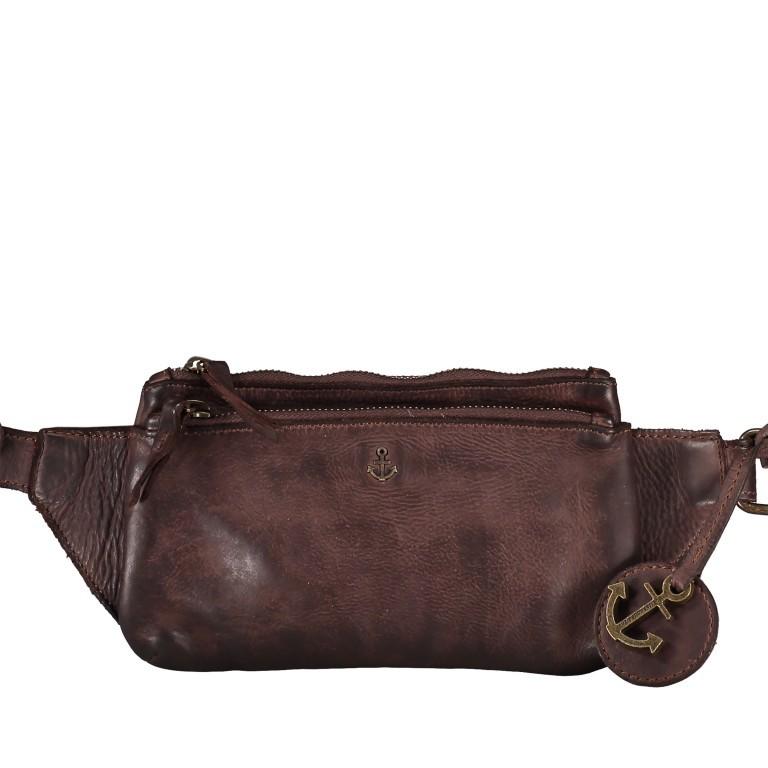 Gürteltasche Cool-Casual Linus B3.0025 Chocolate Brown, Farbe: braun, Marke: Harbour 2nd, EAN: 4046478045521, Abmessungen in cm: 22.0x13.5x2.0, Bild 1 von 6