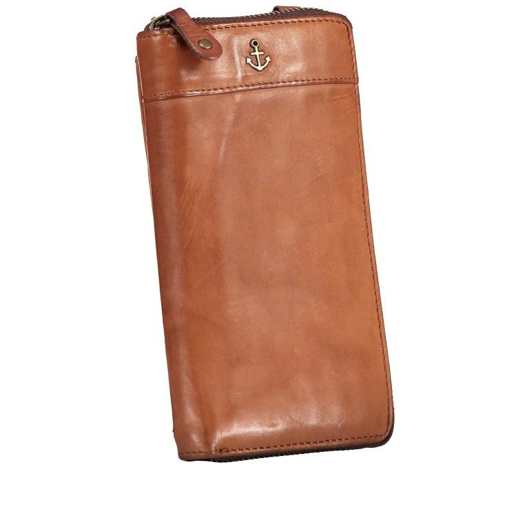 Geldbörse / Handytasche Anchor-Love Lina B3.2262 mit Schulterriemen Charming Cognac, Farbe: cognac, Marke: Harbour 2nd, EAN: 4046478046733, Abmessungen in cm: 11.0x19.5x2.5, Bild 2 von 8