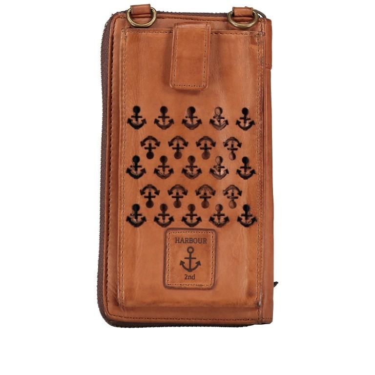 Geldbörse / Handytasche Anchor-Love Lina B3.2262 mit Schulterriemen Charming Cognac, Farbe: cognac, Marke: Harbour 2nd, EAN: 4046478046733, Abmessungen in cm: 11.0x19.5x2.5, Bild 3 von 8