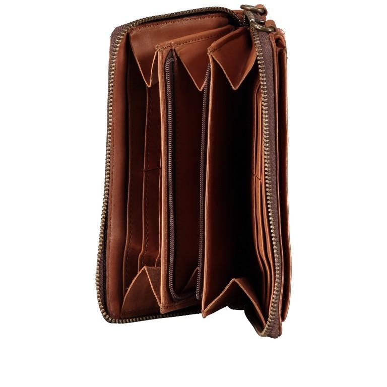 Geldbörse / Handytasche Anchor-Love Lina B3.2262 mit Schulterriemen Charming Cognac, Farbe: cognac, Marke: Harbour 2nd, EAN: 4046478046733, Abmessungen in cm: 11.0x19.5x2.5, Bild 6 von 8