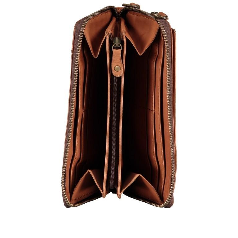 Geldbörse / Handytasche Anchor-Love Lina B3.2262 mit Schulterriemen Charming Cognac, Farbe: cognac, Marke: Harbour 2nd, EAN: 4046478046733, Abmessungen in cm: 11.0x19.5x2.5, Bild 7 von 8