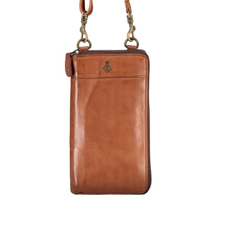 Geldbörse / Handytasche Anchor-Love Lina B3.2262 mit Schulterriemen Charming Cognac, Farbe: cognac, Marke: Harbour 2nd, EAN: 4046478046733, Abmessungen in cm: 11.0x19.5x2.5, Bild 8 von 8