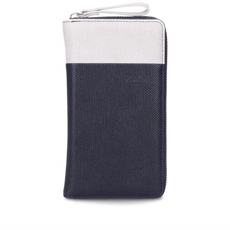 Geldbörse Eva Wallet EV2 Canvas Night, Farbe: blau/petrol, Marke: Zwei, EAN: 4250257920910, Abmessungen in cm: 19.0x11.0x3.0, Bild 1 von 6