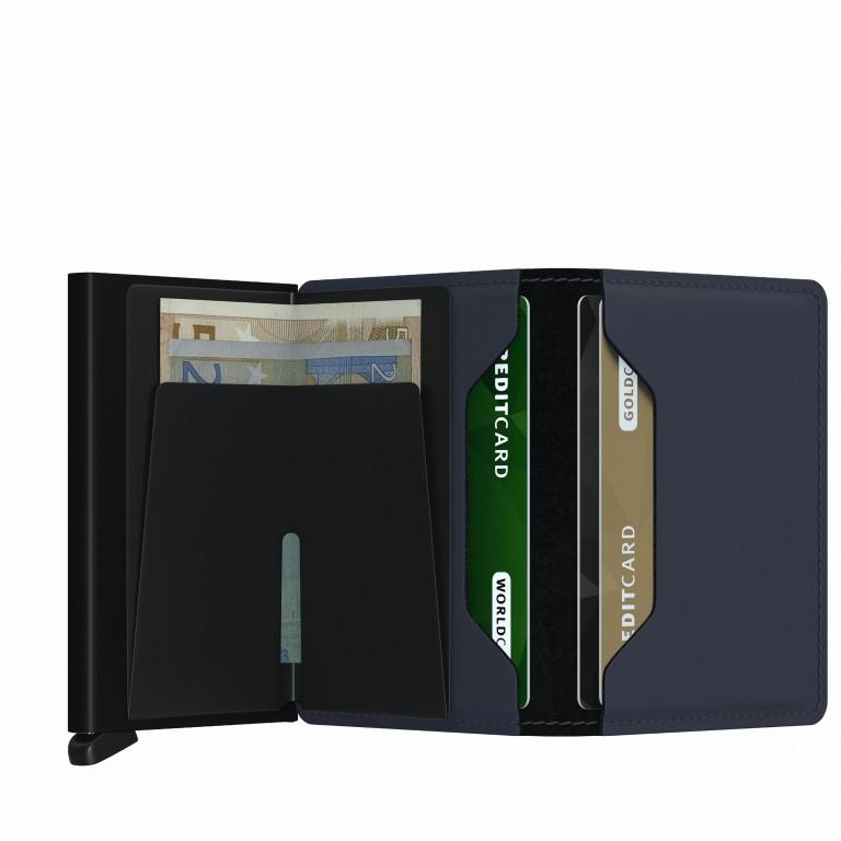 Geldbörse Slimwallet Matte Night Blue, Farbe: blau/petrol, Marke: Secrid, EAN: 8718215287308, Abmessungen in cm: 6.8x10.2x1.6, Bild 3 von 5