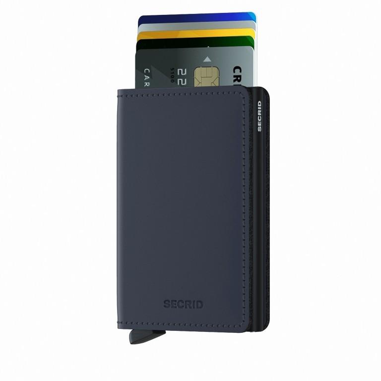 Geldbörse Slimwallet Matte Night Blue, Farbe: blau/petrol, Marke: Secrid, EAN: 8718215287308, Abmessungen in cm: 6.8x10.2x1.6, Bild 5 von 5