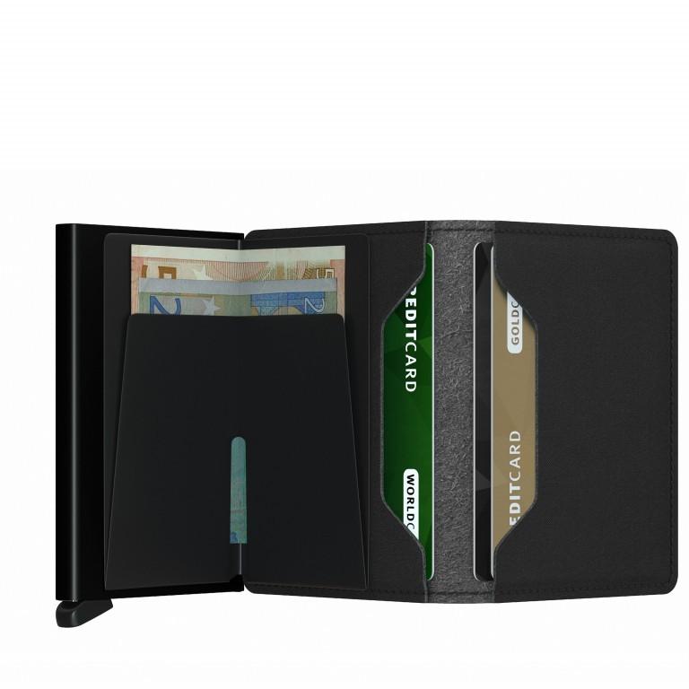 Geldbörse Slimwallet Yard vegan Black, Farbe: schwarz, Marke: Secrid, EAN: 8718215287940, Abmessungen in cm: 6.8x10.2x1.6, Bild 2 von 4