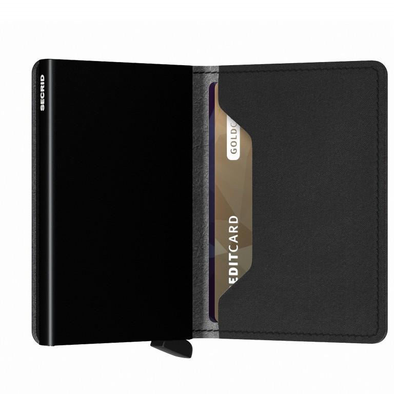 Geldbörse Slimwallet Yard vegan Black, Farbe: schwarz, Marke: Secrid, EAN: 8718215287940, Abmessungen in cm: 6.8x10.2x1.6, Bild 3 von 4