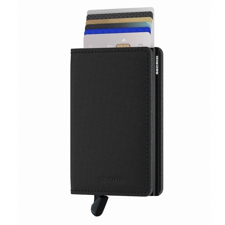 Geldbörse Slimwallet Yard vegan Black, Farbe: schwarz, Marke: Secrid, EAN: 8718215287940, Abmessungen in cm: 6.8x10.2x1.6, Bild 4 von 4