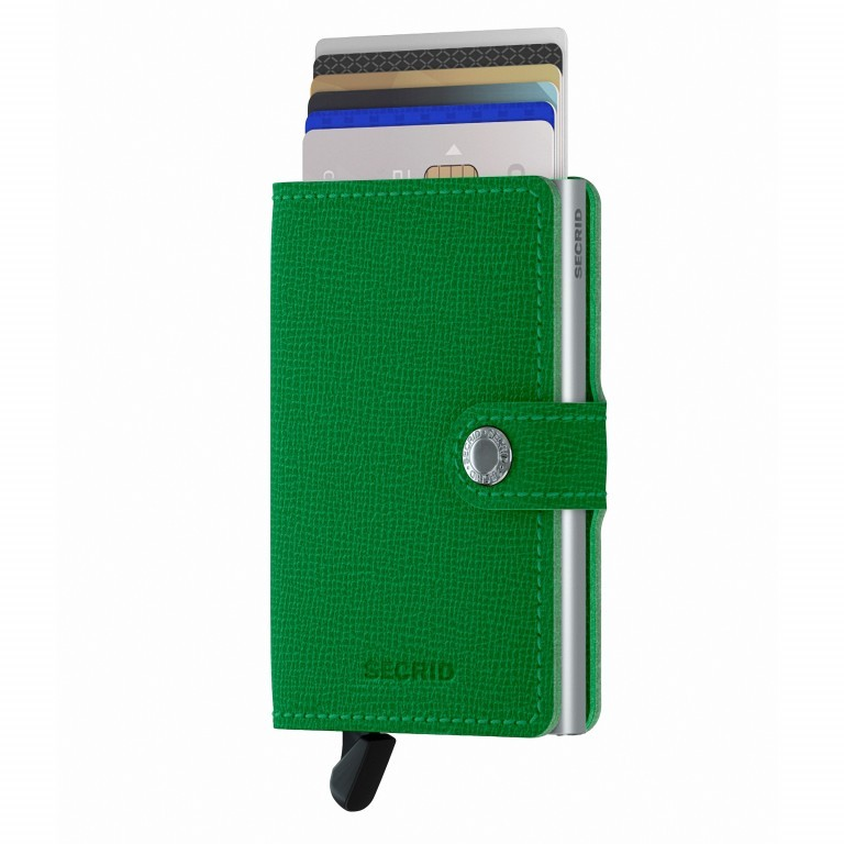 Geldbörse Miniwallet Crisple Apple, Farbe: grün/oliv, Marke: Secrid, EAN: 8718215287858, Abmessungen in cm: 6.8x10.2x2.1, Bild 5 von 5