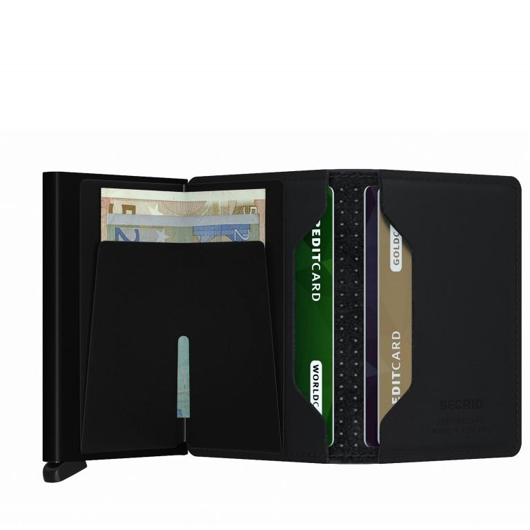 Geldbörse Slimwallet Perforated Black, Farbe: schwarz, Marke: Secrid, EAN: 8718215287032, Abmessungen in cm: 6.8x10.2x1.6, Bild 2 von 4