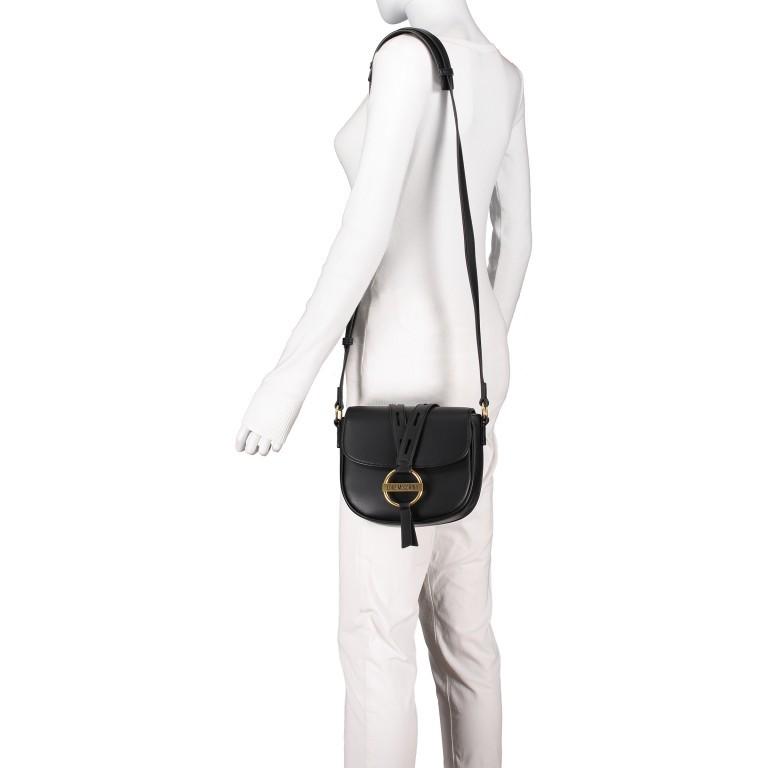 Umhängetasche Schwarz, Farbe: schwarz, Marke: Love Moschino, EAN: 8059826649261, Abmessungen in cm: 20.5x18.5x8.0, Bild 4 von 6