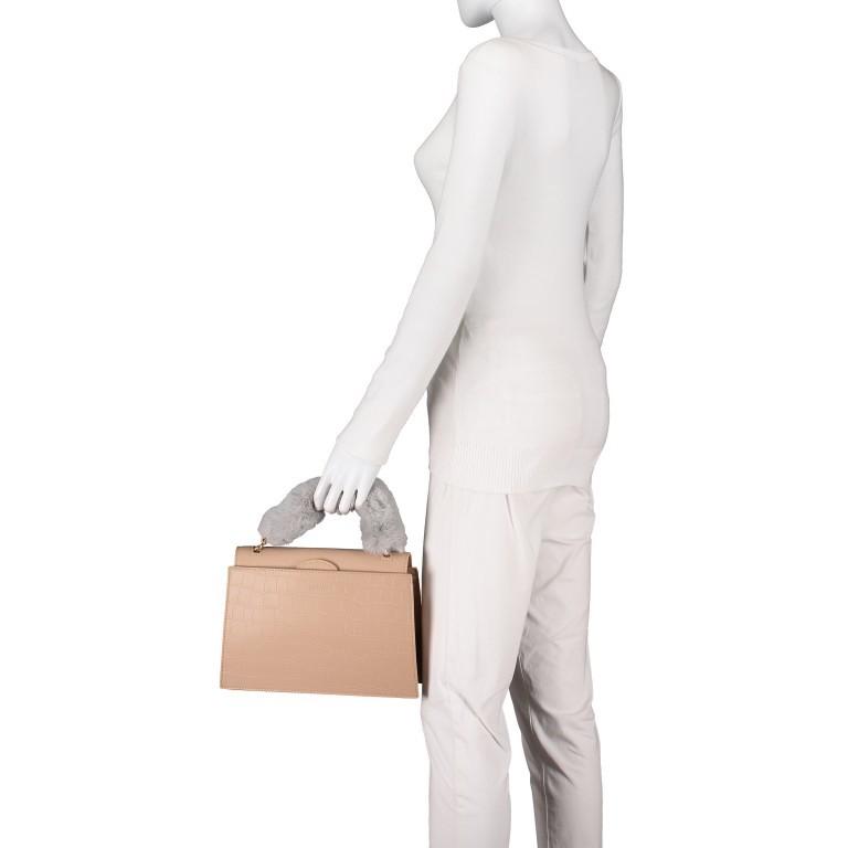 Handtasche Olivia Sand Croco Matt, Farbe: beige, Marke: Inyati, EAN: 4251289849644, Abmessungen in cm: 28.0x20.0x7.5, Bild 4 von 10