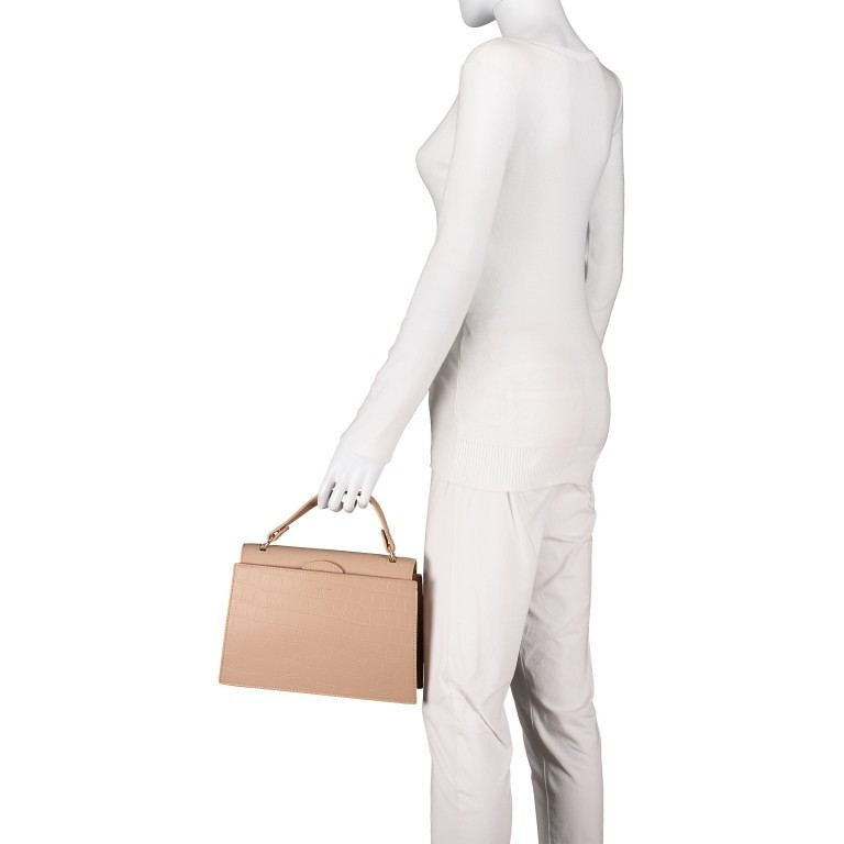 Handtasche Olivia Sand Croco Matt, Farbe: beige, Marke: Inyati, EAN: 4251289849644, Abmessungen in cm: 28.0x20.0x7.5, Bild 5 von 10