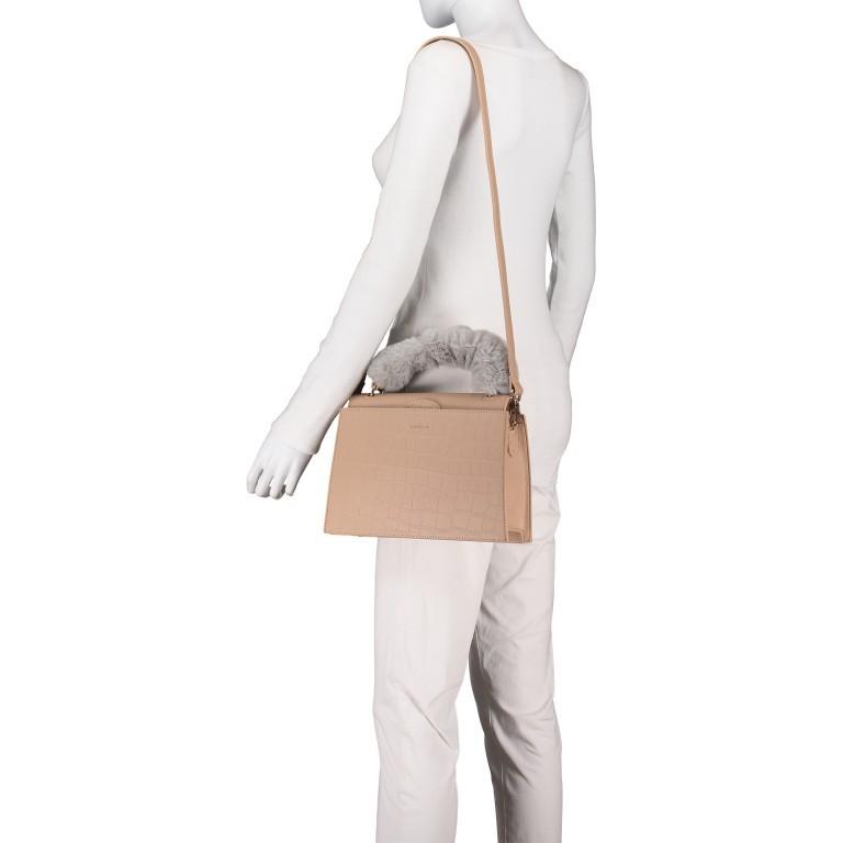 Handtasche Olivia Sand Croco Matt, Farbe: beige, Marke: Inyati, EAN: 4251289849644, Abmessungen in cm: 28.0x20.0x7.5, Bild 6 von 10