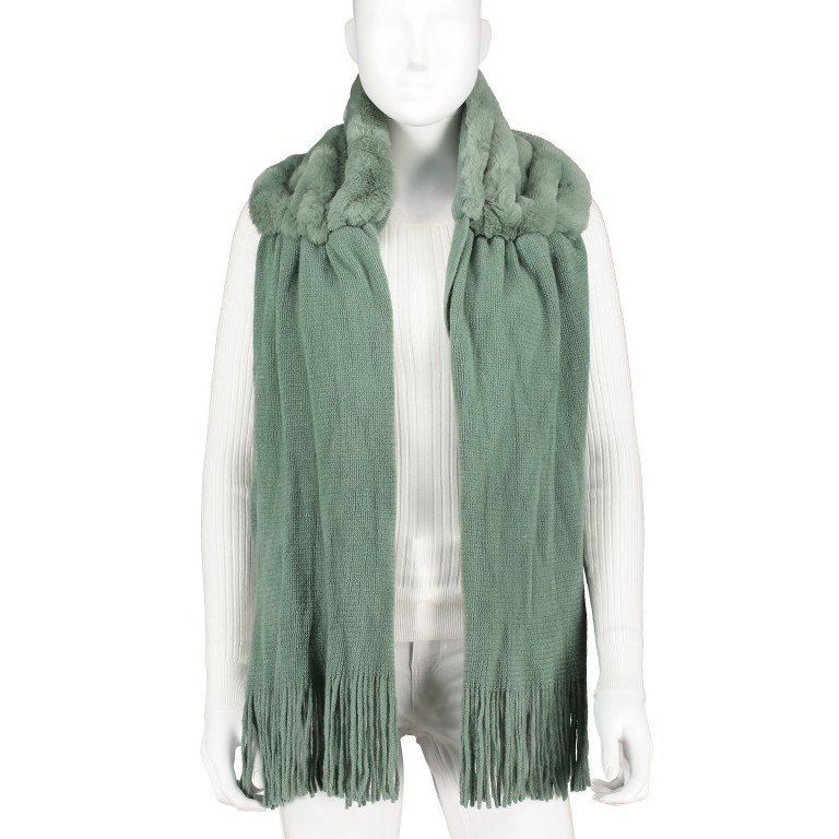 Kapuzenschal Vlien Green Bay, Farbe: grün/oliv, Marke: Rino & Pelle, EAN: 8719293682917, Bild 1 von 3