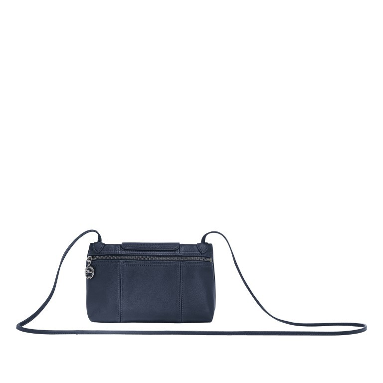 Umhängetasche Le Pliage Cuir Umhängetasche 757-1061 Dunkelblau, Farbe: blau/petrol, Marke: Longchamp, EAN: 3597921734628, Abmessungen in cm: 22.0x14.0x7.0, Bild 8 von 8