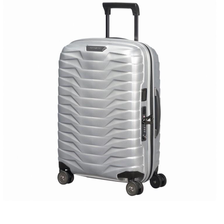 Koffer Proxis Spinner 55 Silver, Farbe: metallic, Marke: Samsonite, EAN: 5400520004314, Abmessungen in cm: 40.0x55.0x20.0, Bild 2 von 17