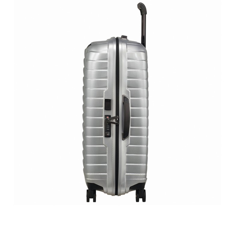 Koffer Proxis Spinner 69 Silver, Farbe: metallic, Marke: Samsonite, EAN: 5400520004468, Abmessungen in cm: 48.0x69.0x29.0, Bild 4 von 14