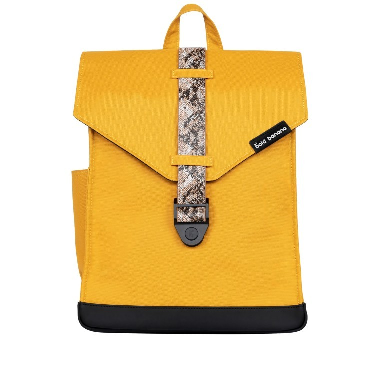 Rucksack AS02 mehrfarbig mit Laptopfach 15,6 Zoll Yellow Snake Tan, Farbe: gelb, Marke: Bold Banana, EAN: 8719874695251, Abmessungen in cm: 31.0x40.0x12.0, Bild 1 von 6