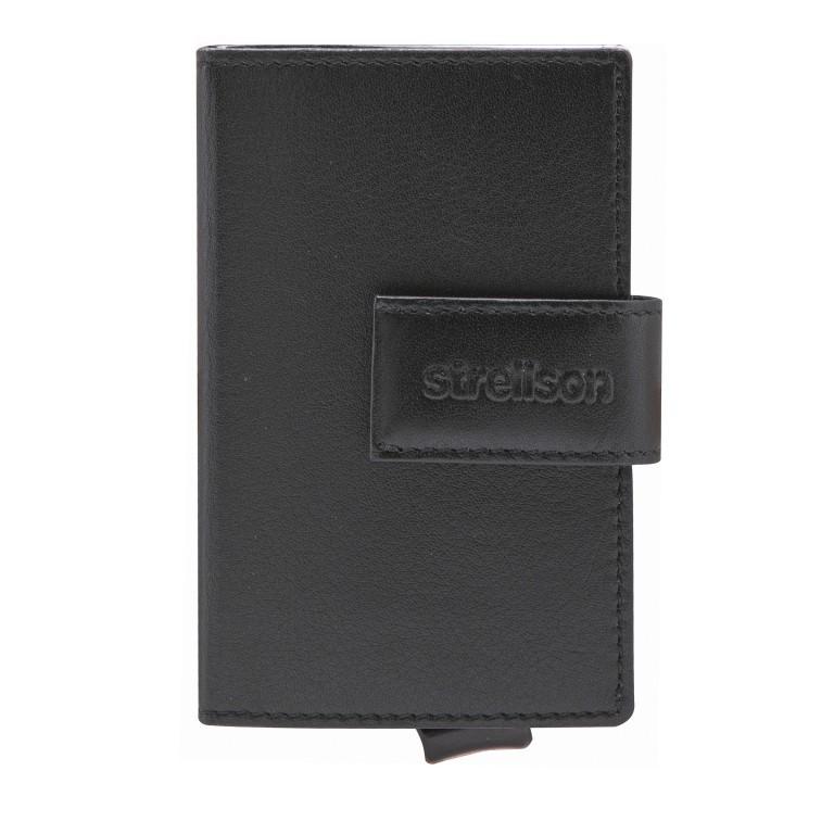 Geldbörse E-Cage C-TWO Black, Farbe: schwarz, Marke: Strellson, EAN: 4053533850259, Abmessungen in cm: 6.5x10.2x2.0, Bild 1 von 3