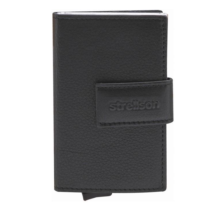 Geldbörse E-Cage C-THREE Black, Farbe: schwarz, Marke: Strellson, EAN: 4053533846399, Abmessungen in cm: 6.5x10.0x2.5, Bild 1 von 4