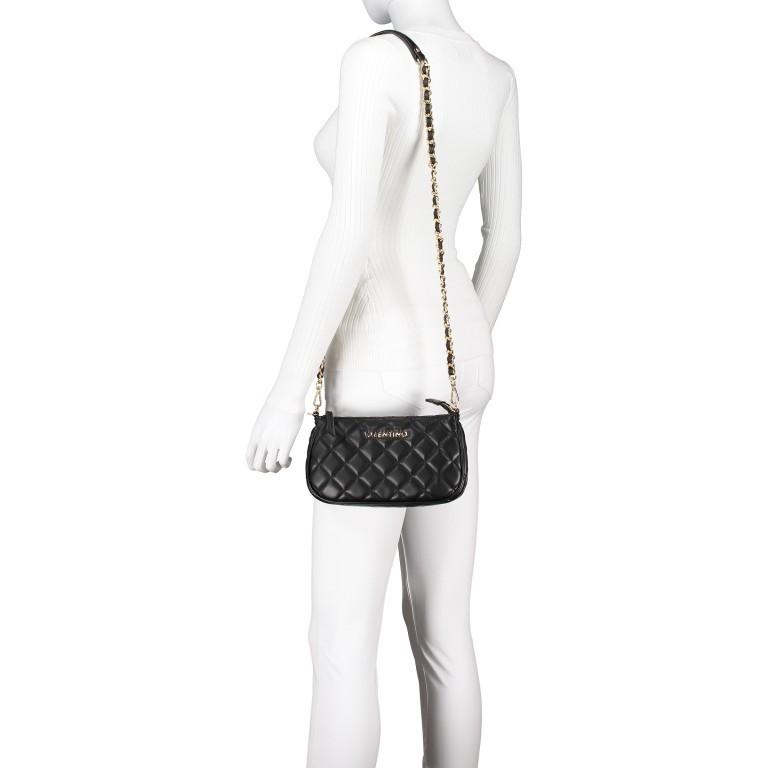 Umhängetasche Ocarina Nero, Farbe: schwarz, Marke: Valentino Bags, EAN: 8058043177045, Abmessungen in cm: 24.5x14.5x5.0, Bild 6 von 14
