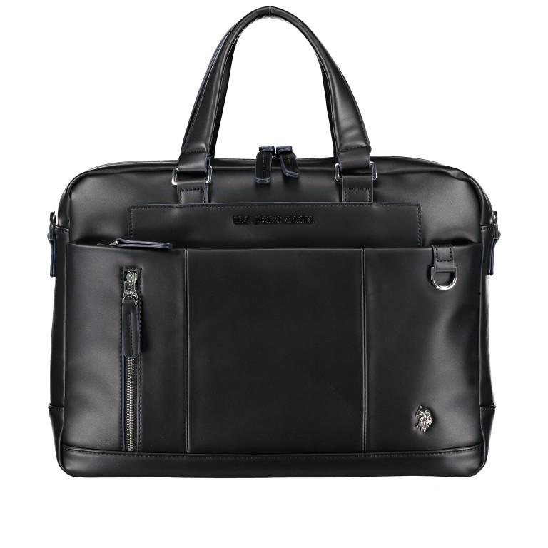 Aktentasche Cambridge Black, Farbe: schwarz, Marke: U.S. Polo Assn., EAN: 8052792843428, Abmessungen in cm: 41.0x30.0x10.0, Bild 1 von 10