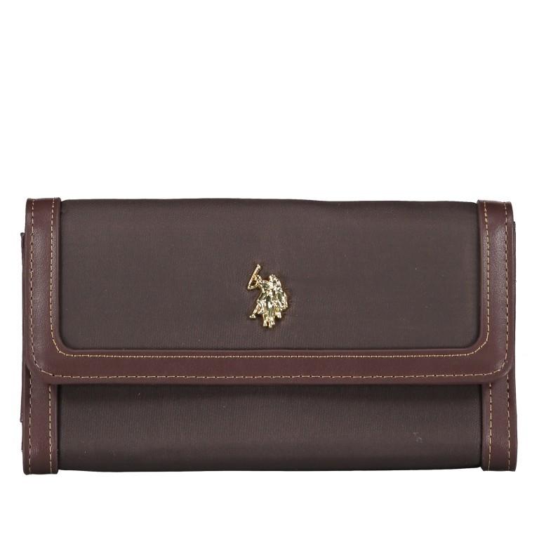 Geldbörse Houston L Dark Brown, Farbe: braun, Marke: U.S. Polo Assn., EAN: 8052792838714, Abmessungen in cm: 19.5x10.5x3.5, Bild 1 von 4