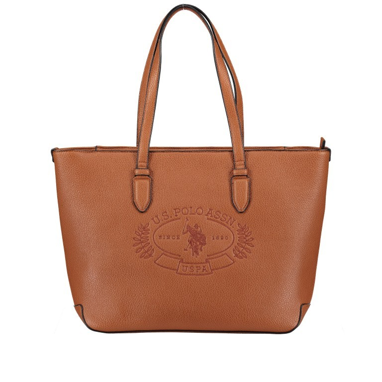 U.S. Polo Assn. Hailey Shopping Bag BIUHF4989WVP.521 Tan, Farbe: cognac, Marke: U.S. Polo Assn., EAN: 8052792837328, Bild 1 von 6