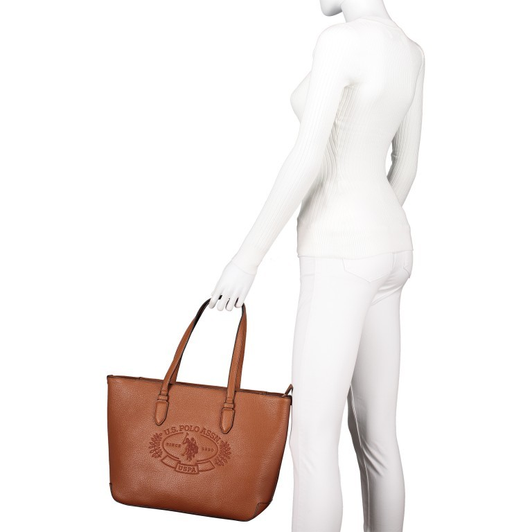 U.S. Polo Assn. Hailey Shopping Bag BIUHF4989WVP.521 Tan, Farbe: cognac, Marke: U.S. Polo Assn., EAN: 8052792837328, Bild 5 von 6
