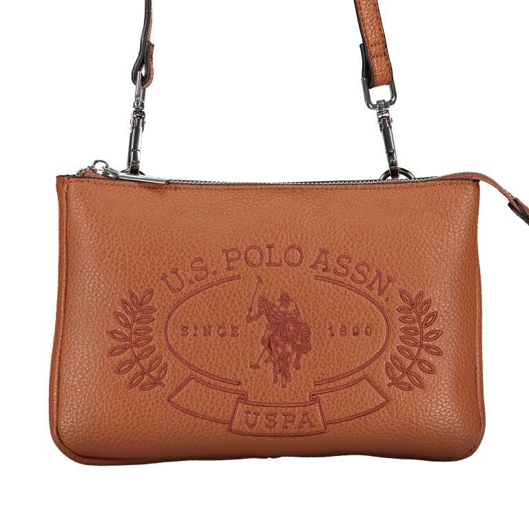 U.S. Polo Assn. Hailey Flat Crossbody Bag BIUHF4993WVP.521 Tan, Farbe: cognac, Marke: U.S. Polo Assn., EAN: 8052792837489, Abmessungen in cm: 25.0x16.0x2.0, Bild 1 von 7