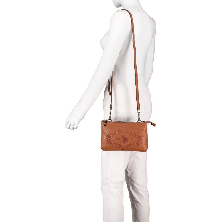 U.S. Polo Assn. Hailey Flat Crossbody Bag BIUHF4993WVP.521 Tan, Farbe: cognac, Marke: U.S. Polo Assn., EAN: 8052792837489, Abmessungen in cm: 25.0x16.0x2.0, Bild 4 von 7