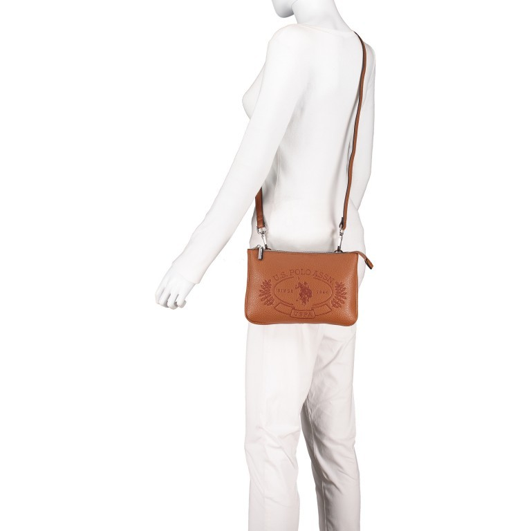 U.S. Polo Assn. Hailey Flat Crossbody Bag BIUHF4993WVP.521 Tan, Farbe: cognac, Marke: U.S. Polo Assn., EAN: 8052792837489, Abmessungen in cm: 25.0x16.0x2.0, Bild 5 von 7