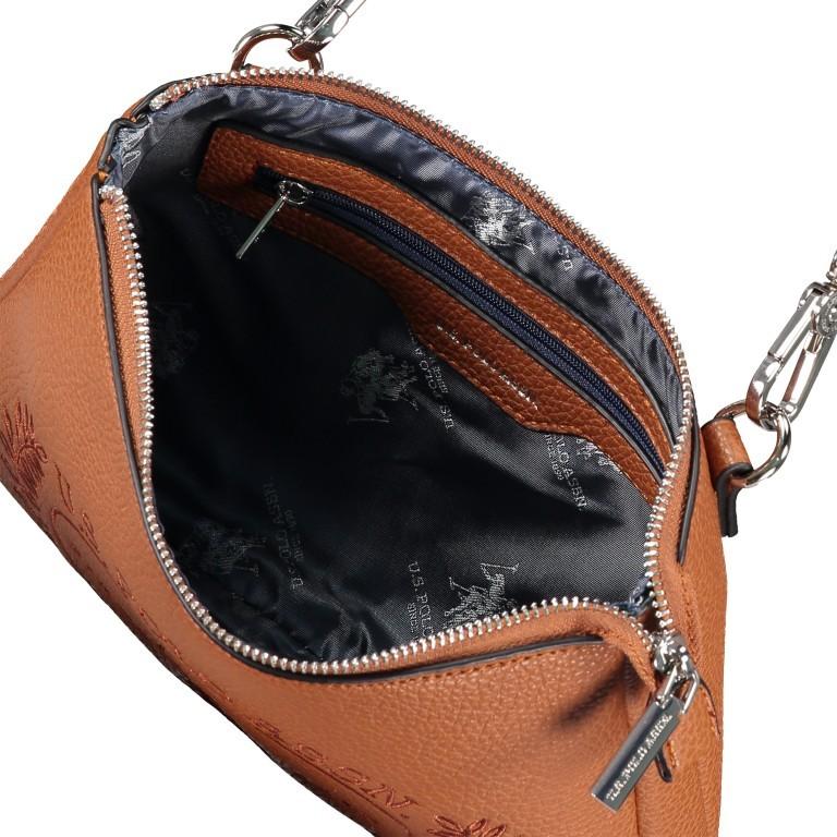 U.S. Polo Assn. Hailey Flat Crossbody Bag BIUHF4993WVP.521 Tan, Farbe: cognac, Marke: U.S. Polo Assn., EAN: 8052792837489, Abmessungen in cm: 25.0x16.0x2.0, Bild 6 von 7