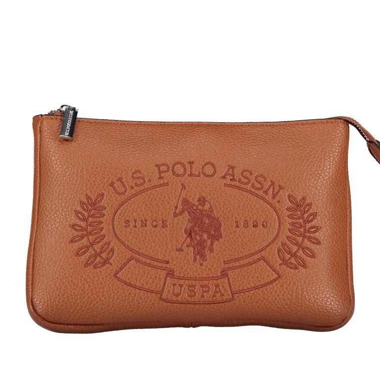U.S. Polo Assn. Hailey Flat Crossbody Bag BIUHF4993WVP.521 Tan, Farbe: cognac, Marke: U.S. Polo Assn., EAN: 8052792837489, Abmessungen in cm: 25.0x16.0x2.0, Bild 7 von 7