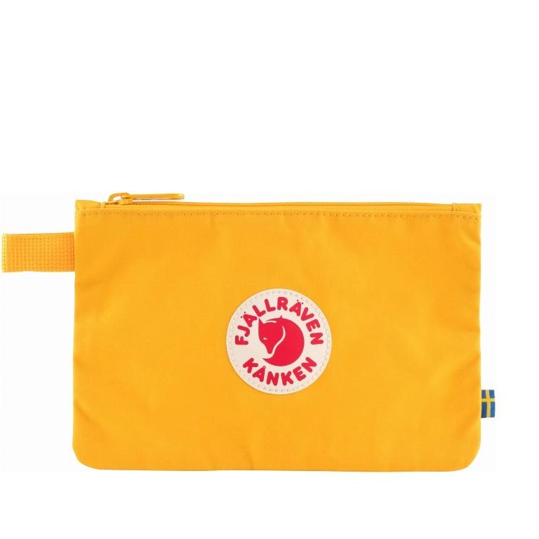 Kosmetiktasche Kånken Gear Pocket, Farbe: schwarz, blau/petrol, grün/oliv, rot/weinrot, gelb, Marke: Fjällräven, Abmessungen in cm: 21.0x14.0x0.5, Bild 1 von 3
