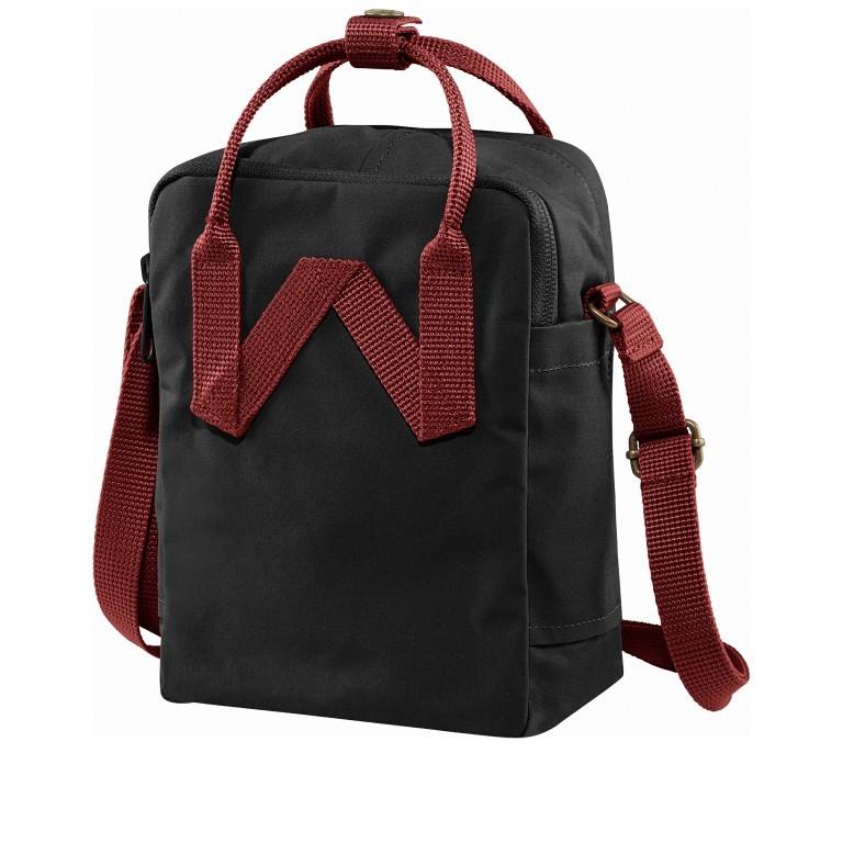 Umhängetasche Kånken Sling Black Ox Red, Farbe: schwarz, Marke: Fjällräven, EAN: 7323450597818, Abmessungen in cm: 15.0x20.0x11.0, Bild 2 von 13