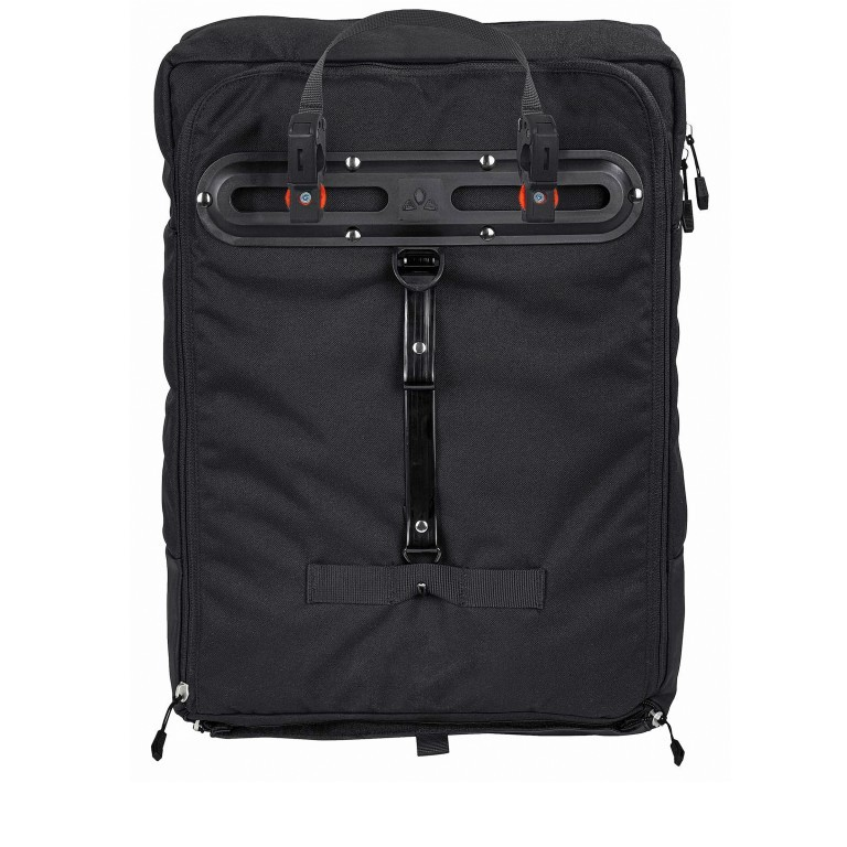 Fahrradtasche Cyclist Pack Black, Farbe: schwarz, Marke: Vaude, EAN: 4052285206475, Abmessungen in cm: 35.0x44.0x15.0, Bild 2 von 4