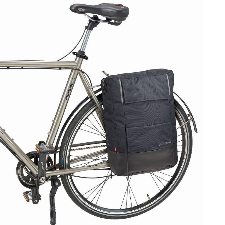 Fahrradtasche Cyclist Pack Black, Farbe: schwarz, Marke: Vaude, EAN: 4052285206475, Abmessungen in cm: 35.0x44.0x15.0, Bild 4 von 4