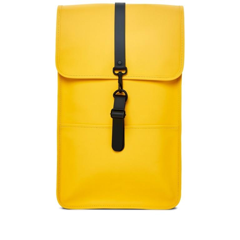 Rucksack Backpack Yellow, Farbe: gelb, Marke: Rains, EAN: 5711747427139, Abmessungen in cm: 28.5x47.0x10.0, Bild 1 von 9